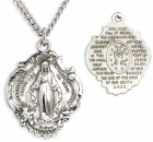 Hail Mary Prayer Sterling Silver Necklace with Chain Options