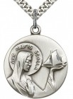 Our Lady Star of the Sea Medal, Sterling Silver