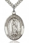 Our Lady of Guadalupe Medal, Sterling Silver, Large