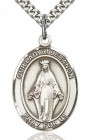 Our Lady of Lebanon Medal, Sterling Silver, Large