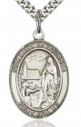 Our Lady of Lourdes Medal, Sterling Silver, Large