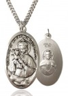 Our Lady of Mount Carmel Medal, Sterling Silver