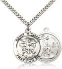 St. Michael the Archangel Medal, Sterling Silver