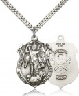 St. Michael National Guard Medal, Sterling Silver