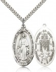 Miraculous Medal, Sterling Silver