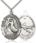 St. Joseph of Cupertino Medal, Sterling Silver