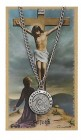 Round St. John the Evangelist Medal and Prayer Card Set