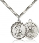 Navy Guardain Angel Medal, Sterling Silver