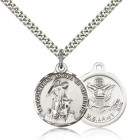 Army Guardian Angel Medal, Sterling Silver