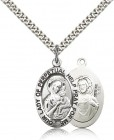 Our Lady of Perpetual Help Medal, Sterling Silver