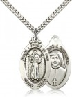 Divine Mercy Medal, Sterling Silver