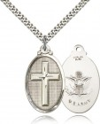 Army Cross Pendant, Sterling Silver