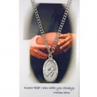 Boys St. Christopher Football Medal and Prayer Card Set