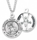 Round Boy's St. Sebastian Track Necklace With Chain