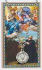 Round St. Ignatius of Loyola Medal and Prayer Card Set