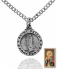 Round St. Peter Medal and Prayer Card Set