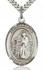 St. Aaron Medal, Sterling Silver, Large