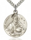 St. Albert the Great Medal, Sterling Silver