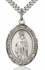 St. Bartholomew the Apostle Medal, Sterling Silver, Large