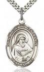 St. Bede the Venerable Medal, Sterling Silver, Large
