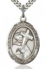 St. Bernard of Clairvaux Medal, Sterling Silver, Large