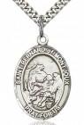 St. Bernard of Montjoux Medal, Sterling Silver, Large