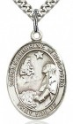 St. Catherine of Bologna Medal, Sterling Silver, Large