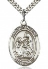 St. Catherine of Siena Medal, Sterling Silver, Large