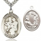 St. Cecilia Marching Band Medal, Sterling Silver, Large