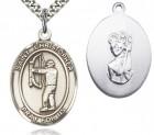 St. Christopher Archery Medal, Sterling Silver, Large