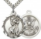 St. Christopher Army Medal, Sterling Silver