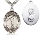 St. Christopher Golf Medal, Sterling Silver, Large