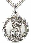 St. Christopher Medal, Sterling Silver