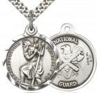 St. Christopher National Guard Medal, Sterling Silver