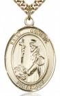 St. Dominic De Guzman Medal, Gold Filled, Large