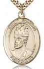 St. Edward the Confessor Medal, Gold Filled, Large