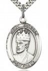 St. Edward the Confessor Medal, Sterling Silver, Large