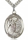 St. Fiacre Medal, Sterling Silver, Large
