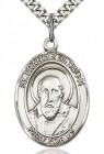 St. Francis De Sales Medal, Sterling Silver, Large