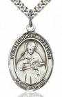 St. Gabriel Possenti Medal, Sterling Silver, Large
