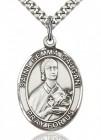 St. Gemma Galgani Medal, Sterling Silver, Large