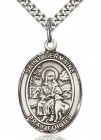 St. Germaine Cousin Medal, Sterling Silver, Large