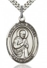 St. Isaac Jogues Medal, Sterling Silver, Large