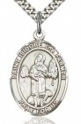 St. Isidore the Farmer Medal, Sterling Silver, Large