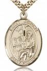 St. Jerome Medal, Gold Filled, Large