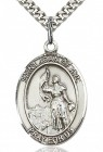 St. Joan of Arc Medal, Sterling Silver, Large