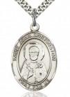 St. John Chrysostom Medal, Sterling Silver, Large