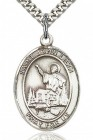 St. John Licci Medal, Sterling Silver, Large
