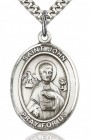 St. John the Apostle Medal, Sterling Silver, Large