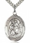St. John the Baptist Medal, Sterling Silver, Large
